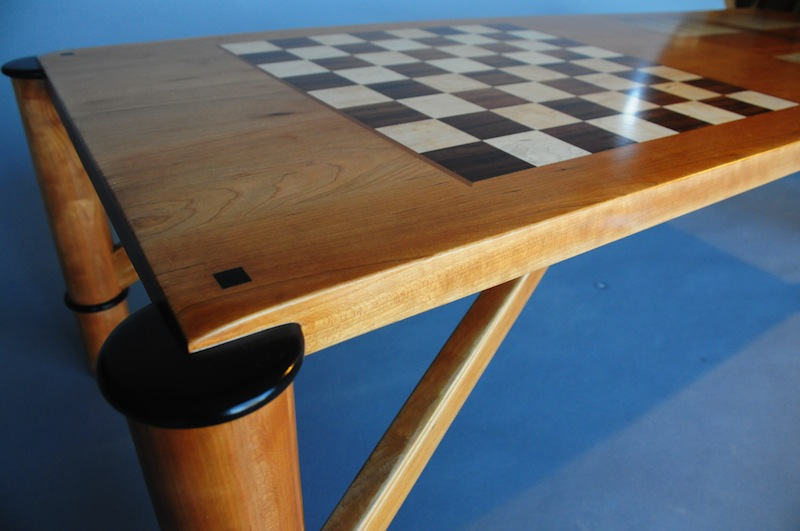 Game Table - detail of the chess board