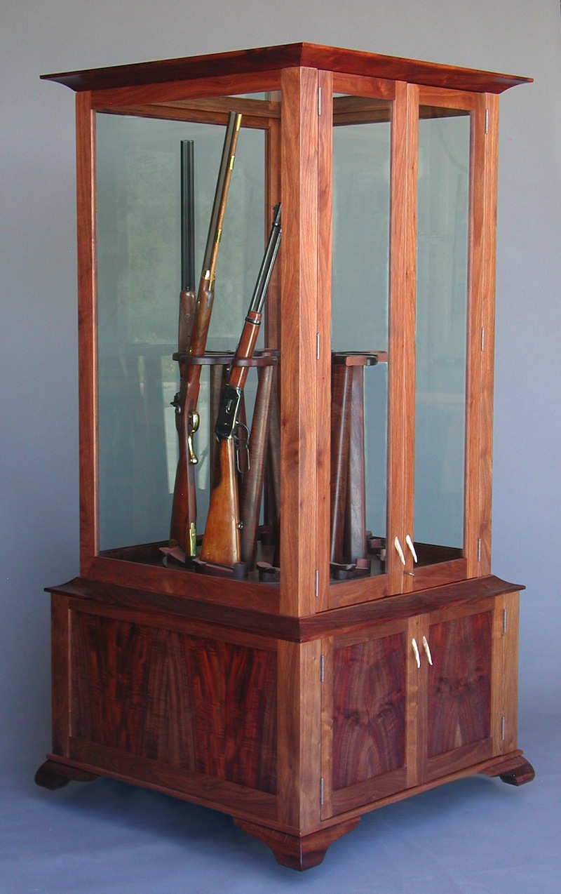 Gun Cabinet with Rotating Display