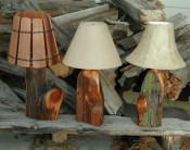 Lamps and Wooden Shade