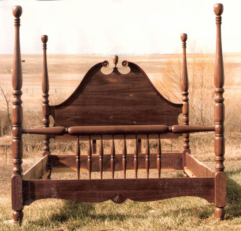 four poster spindle bed - Spindle Bed