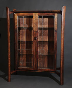 Display Cabinet with leaded glass doors