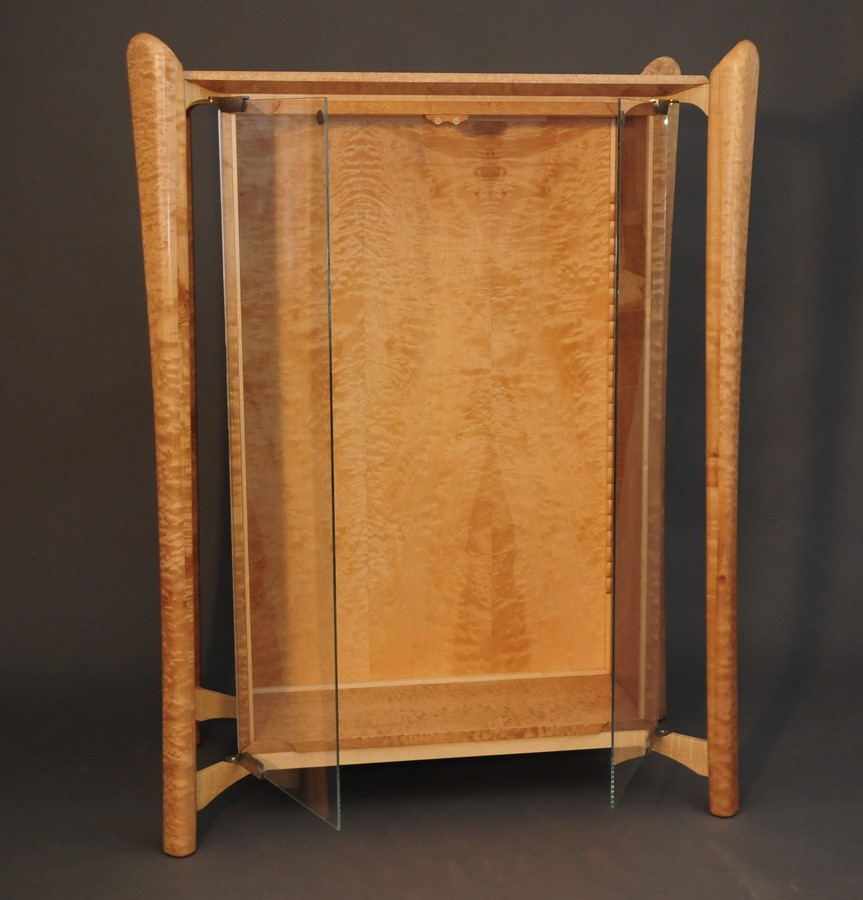 Quilted Maple Display Cabinet
