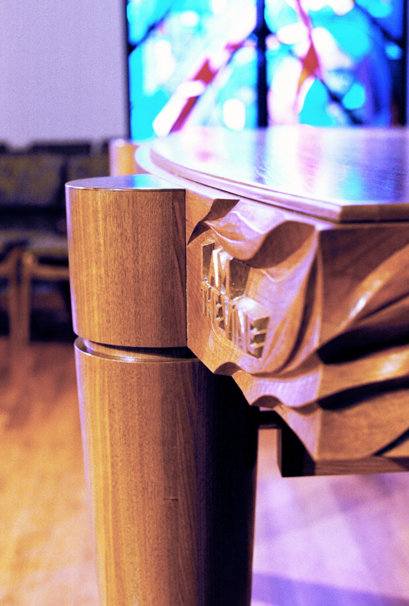 Communion Table detail of the carving