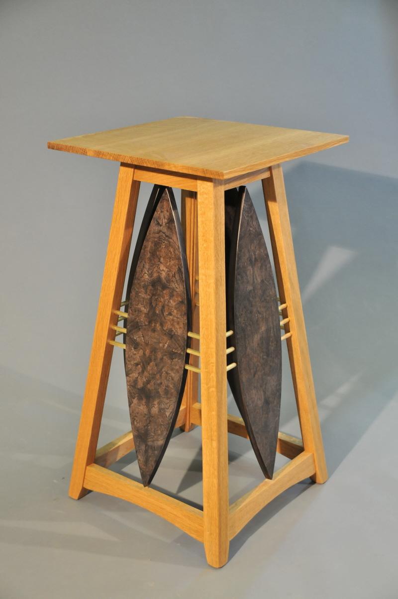 Flared Shield Pedestal made with Oak Bur