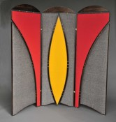 Maasai Shield inspired room divider