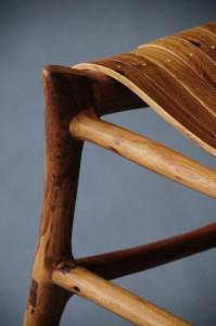 """Sit"" chair leg, rung and seat detail"