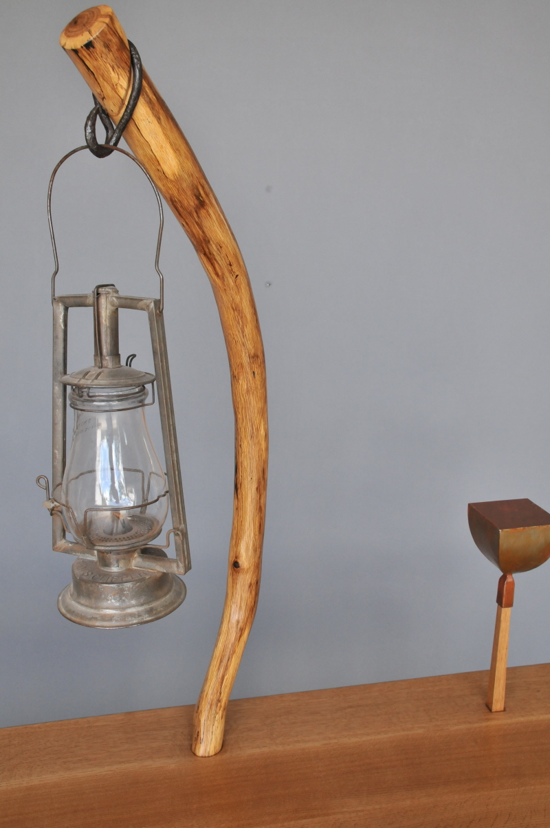 """Pierced"" Sideboard Antique Lamp"