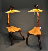 """Grafted On"" End Table with Lamp"
