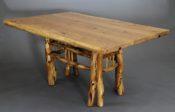 Ash Dining Table with Scrub Oak Legs