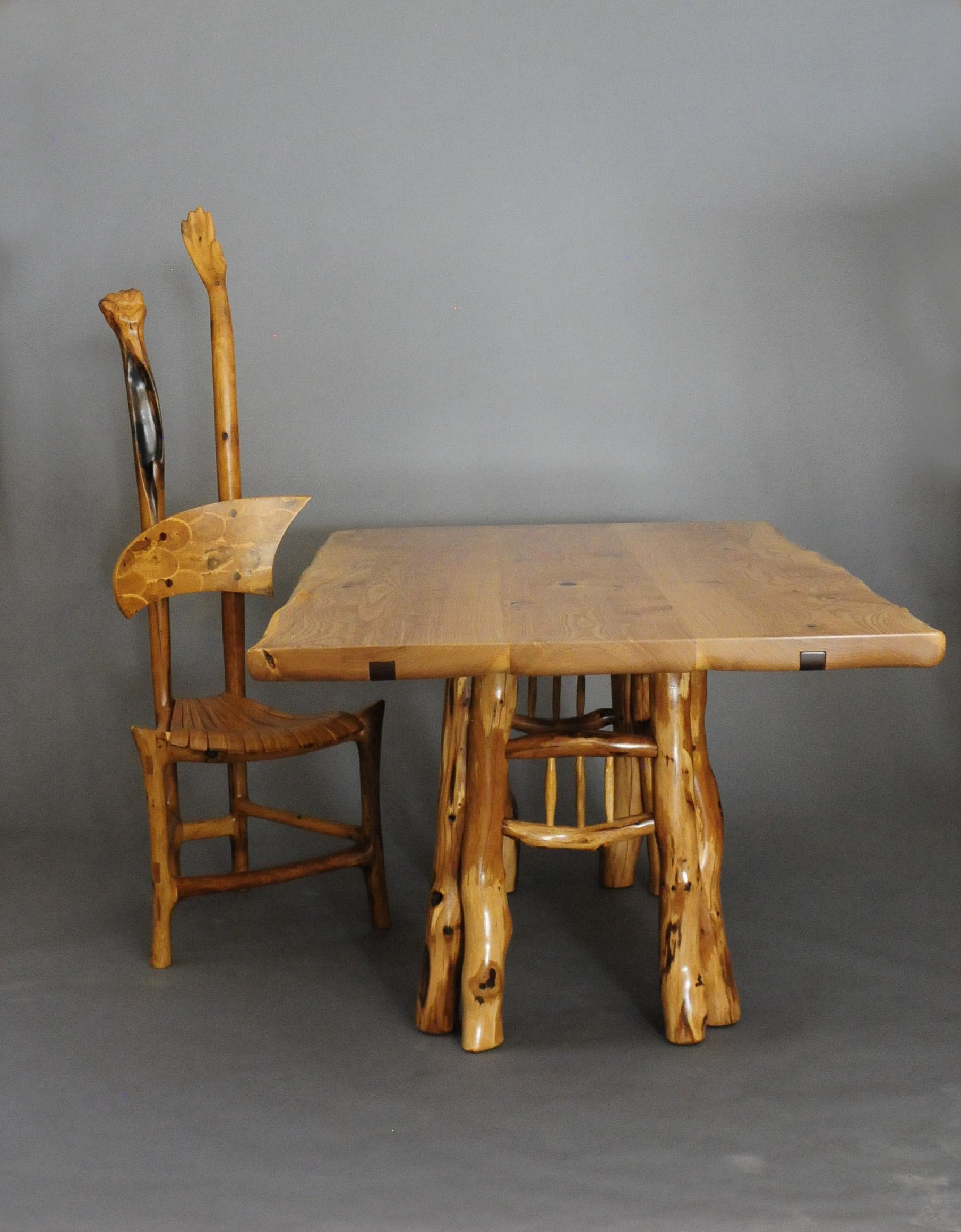 Ash Dining Table with Scrub Oak legs