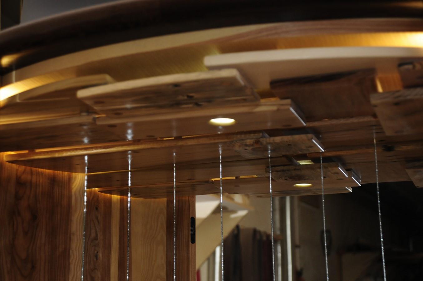 Interior - using pallet material & subtle lighting