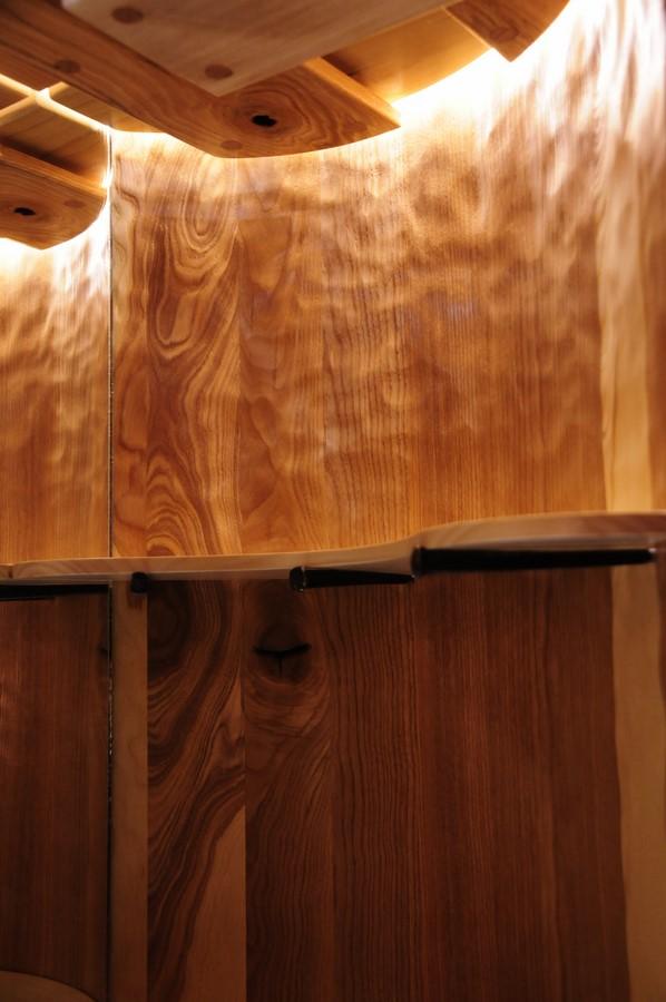 Drinks Cabinet interior - chip carved